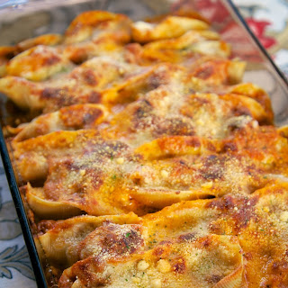 Baked Shells with Ricotta and Sausage