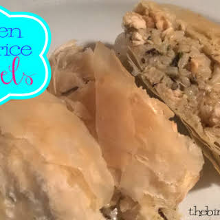 Chicken & Wild Rice Strudels Recipe!.