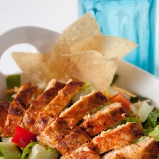 Blackened Chicken Salad with Light Buttermilk Ranch Dressing
