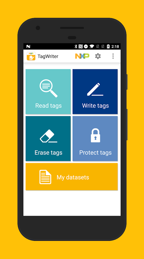 NFC TagWriter by NXP- screenshot
