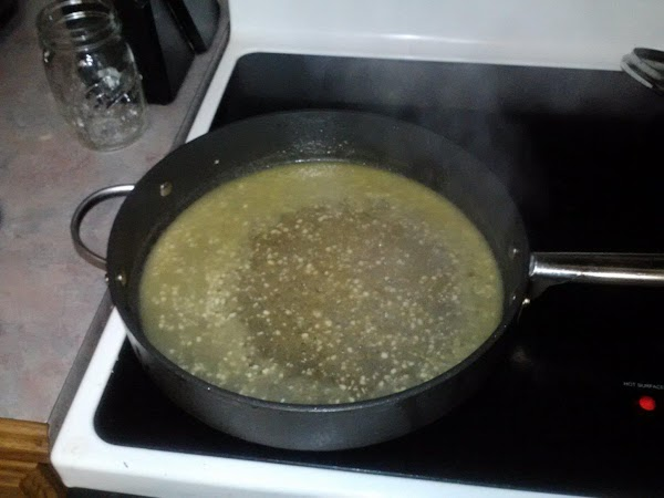 Add sherry, scrape bottom of pan to deglaze, and cook on medium for a...