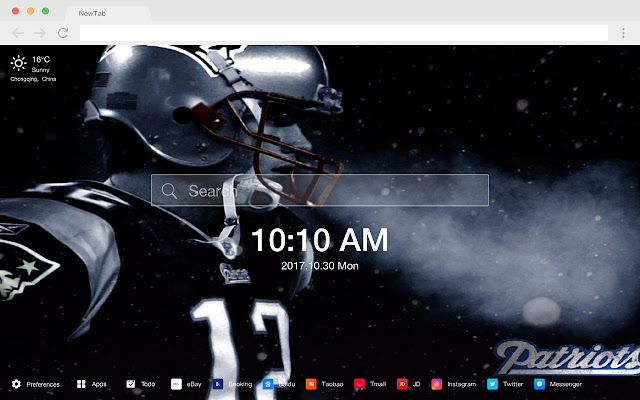 Patriots HD Sports New Tabs Theme