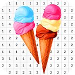 Ice Cream Coloring Book - Color By Number icon