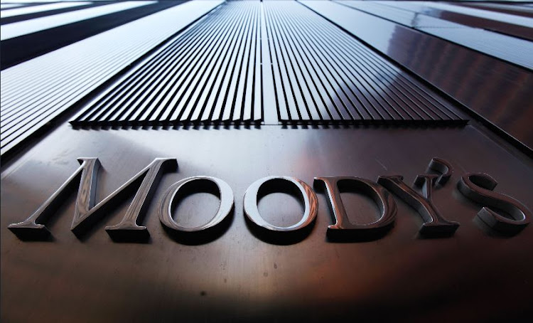 A Moody's sign on the 7 World Trade Center tower is photographed in this file photo.
