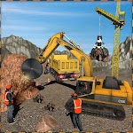 Stone Crusher Crane Driver: Off Road Construction Icon