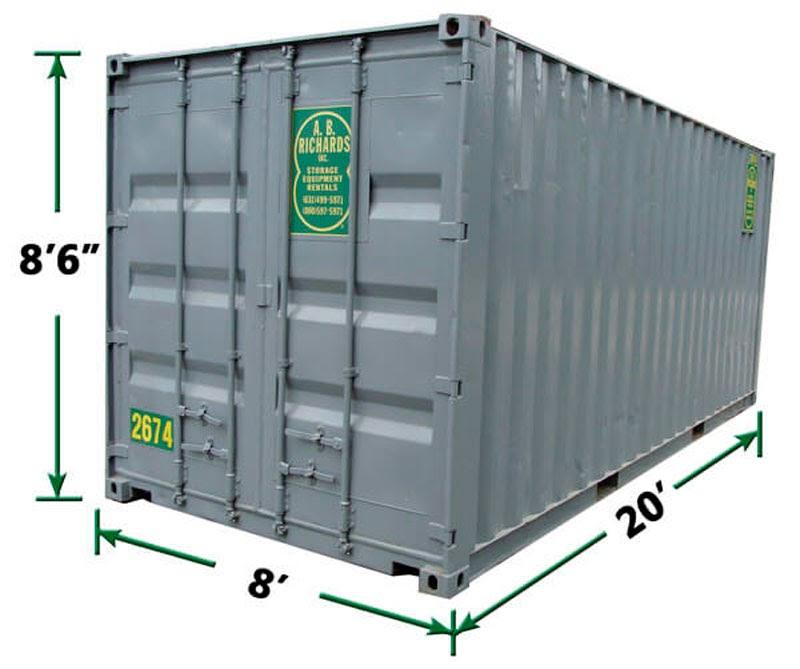 20-футовый контейнер FCL 20