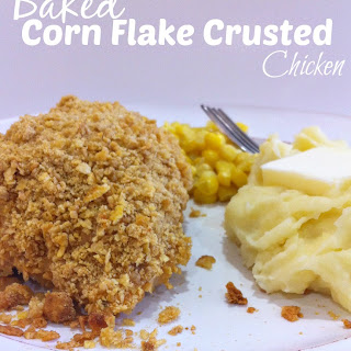 Baked Corn Flake Crusted Chicken