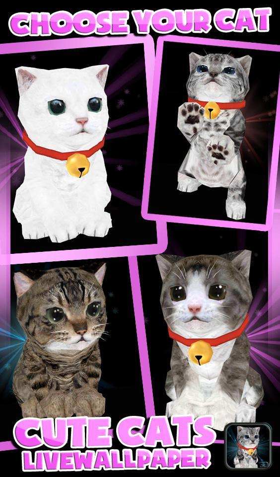 Скриншот Fluffy Cat Pet 3D HD - free
