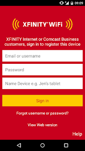 XFINITY WiFi- screenshot thumbnail