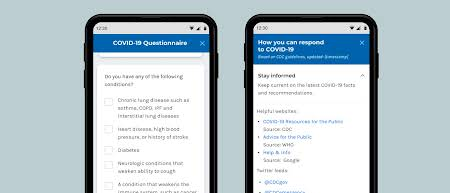 pathfinder UI 2 -An easy-to-embed tool that provides information about COVID-19 and helps patients understand symptoms and their possible severity.