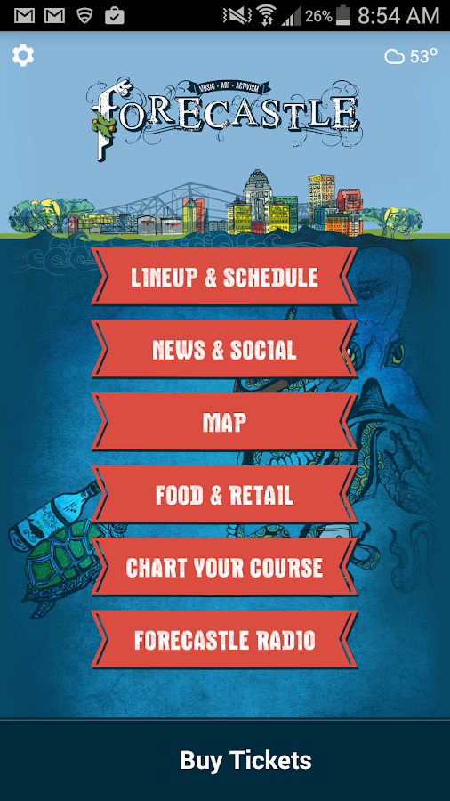 Forecastle Festival - screenshot