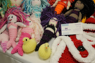 Photo: Mermaids, chicks and more at the crazygamma booth at Delmarva Wool & Fiber Expo 2015 (Fall) | Photograph Copyright Robert J Banach #oceancitycool