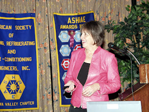 Photo: the lovely Susan Clinesmith of Enbridge was our presenter
