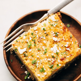 Upside Down Mexican Breakfast Casserole with Hash Brown Crust.