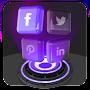 Glass Tech 3D Live Theme file APK Free for PC, smart TV Download
