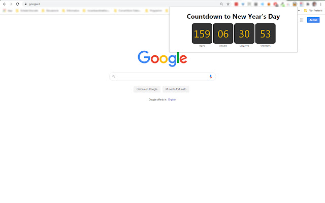 Countdown to New Year's Day