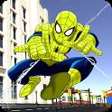 Incredible Flying Superhero Spider City Rescue icon