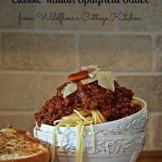 Classic Italian Spaghetti Sauce.