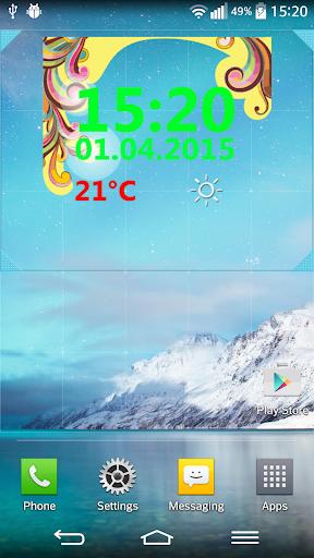 天気 時計 と 日付ウィジェット