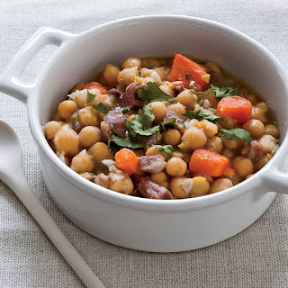 Slow Cooker Ham Hock and Chickpea Stew.