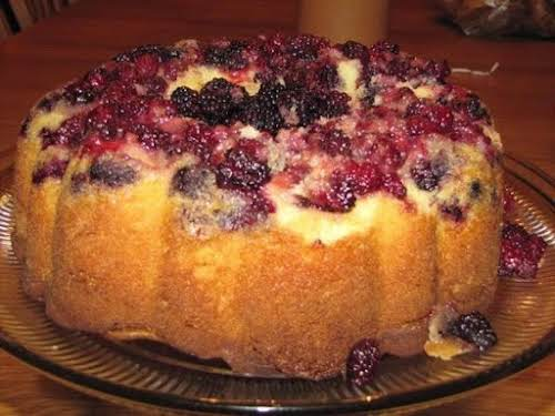 "Click Here for Recipe: Vanilla Blackberry Cake ""I made this wonderful cake..."