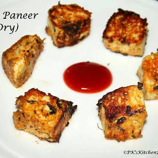 Dry Tawa Paneer (Pan-fried Cottage cheese).