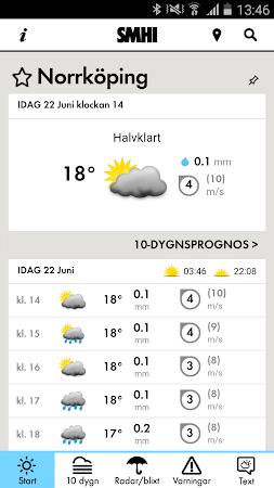 SMHI Väder 2.1.11 screenshot 637228
