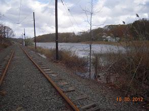 Photo: Short Beach marsh (and trolley line)