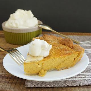 Pumpkin Pie With Maple Bourbon Cream