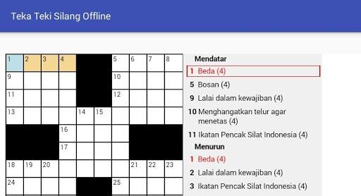 Teka Teki Silang (Game TTS) 1.0 screenshots 5