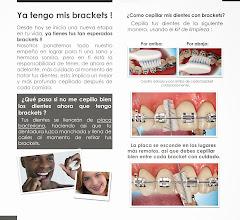 Photo: Material informativo sobre el tratamiento de brackets (ortdoncia).