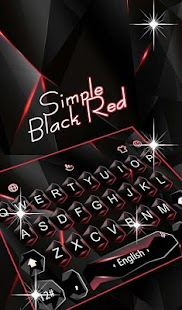 Business Simple Black Red Keyboard Theme Screenshot
