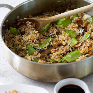 Spicy Rice with Mushrooms and Snow Peas.