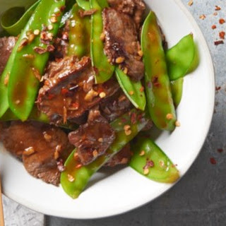 Asian Beef with Snow Peas.