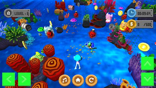 游泳深硬幣3D