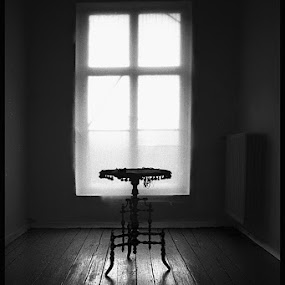 Table d'Amis 2 by Fernand De Canne - Buildings & Architecture Other Interior ( tables, interior, black and white )
