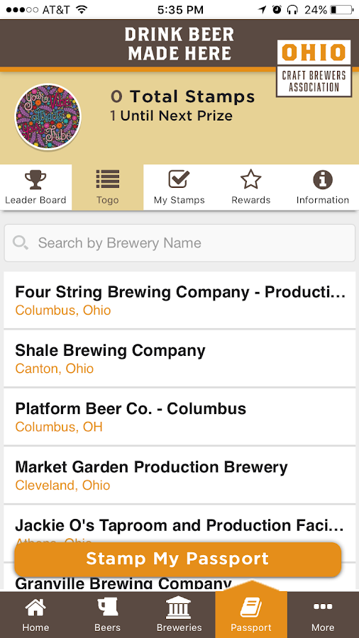 Ohio on Tap- screenshot