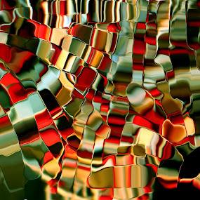 by Tatiana Syunyaeva - Abstract Fine Art ( abstract, red, green, art, fine art )