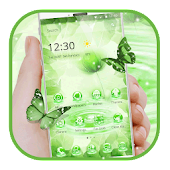 Green Glitter Lotus Theme