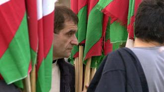 Josu Ternera en un acto de EH en 2002