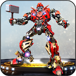 Real Robot Transformation – Hammer Superhero Game Icon