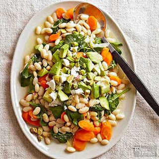 Lemony White Bean and Carrot Spinach Salad