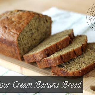 Yummy Sour Cream Banana Bread.