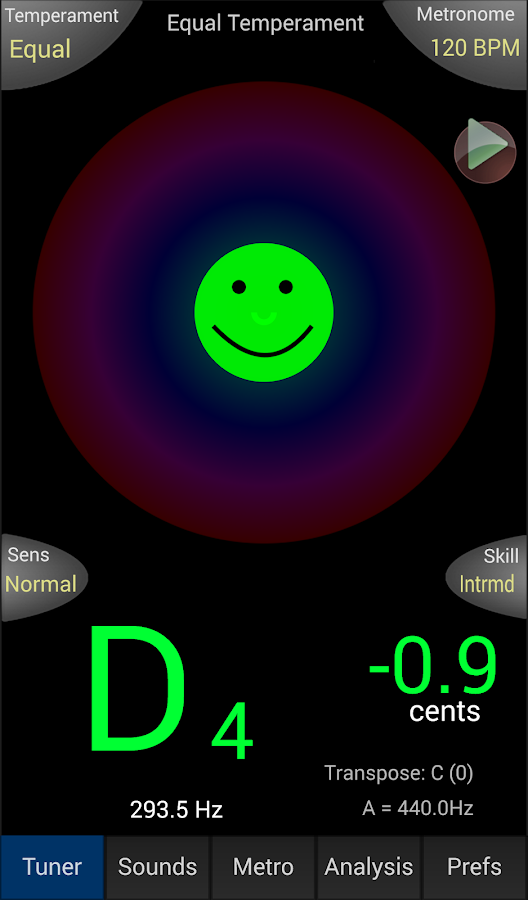 TonalEnergy Tuner- screenshot