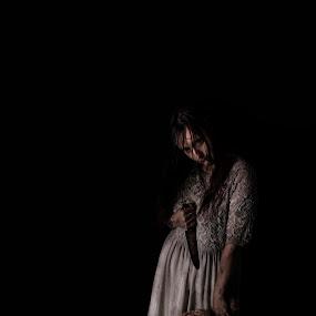 horror by Emmy Dijkmans - People Portraits of Women