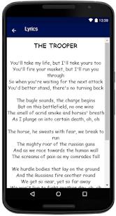 Iron Maiden Songs Lyrics - náhled