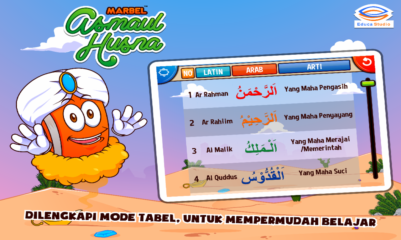 Marbel Asmaul Husna Suara Apl Android Di Google Play