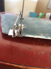 Photo: Front compartment hinge detail.
