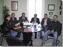 Un momento de la reunión con los responsables de Empleo.