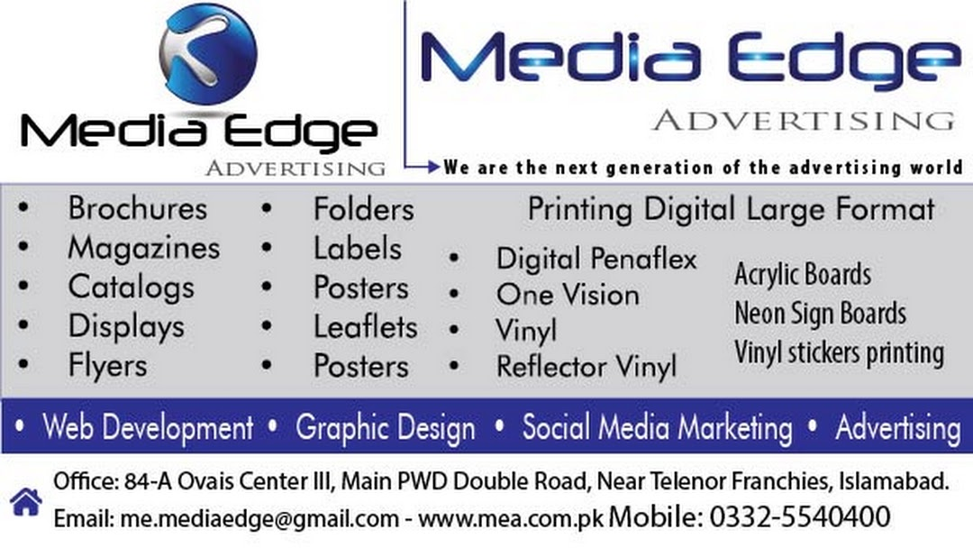 Media Edge Islamabad - We understand that time is of the